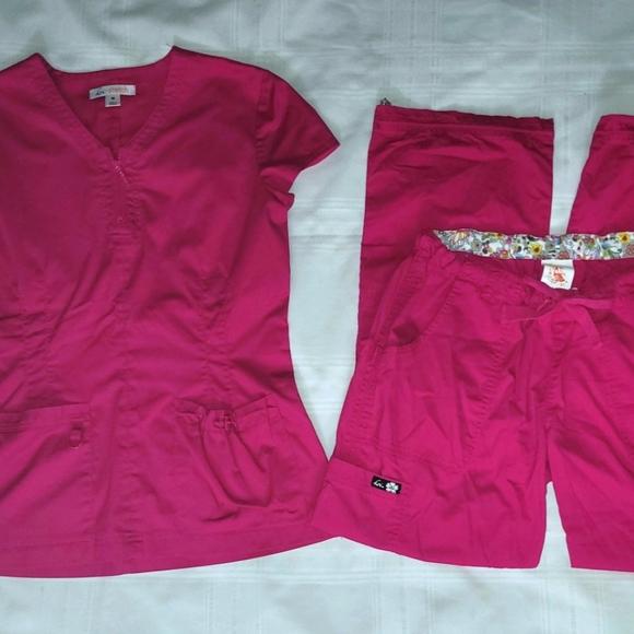 Koi Scrub Set Pink Mackenzie Top Lindsey Pants Med